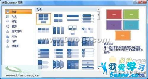 在选定智能图形的样式后,也可以通过文字编辑窗口进行文字的新增与