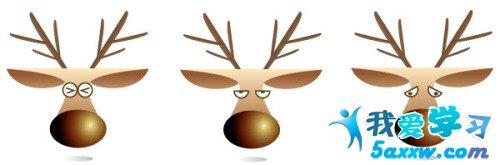 可爱的小鹿图像很简单地就完成了```我们可以自己